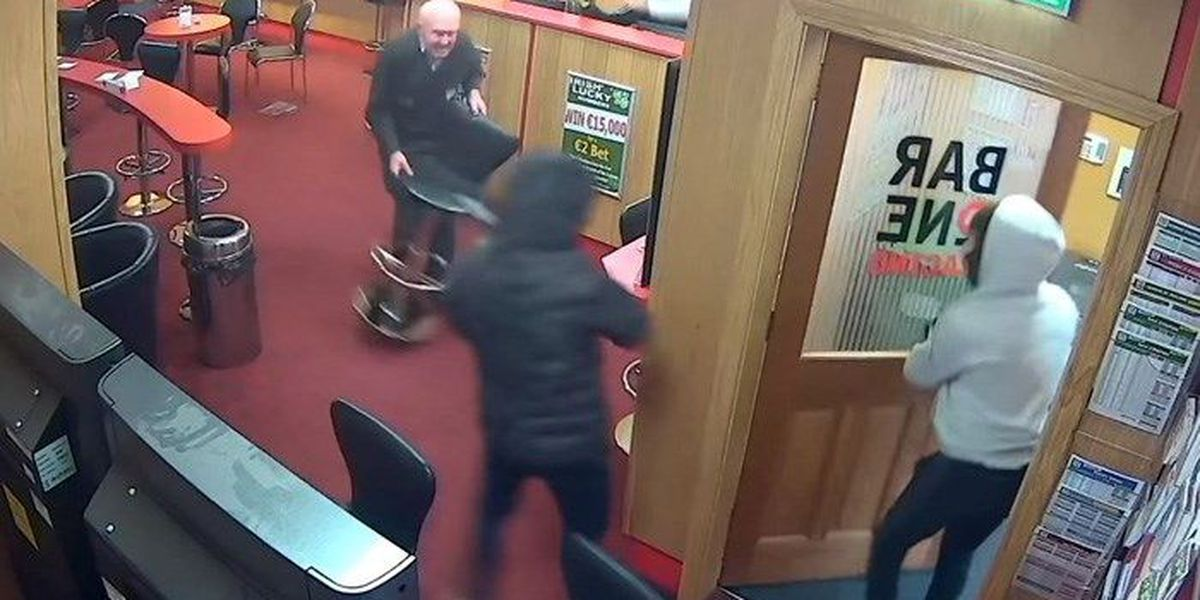 'You can stand up': Irish man, 83, fights off would-be betting shop robbers