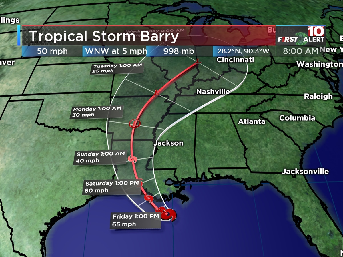 SC sending aid to Louisiana ahead of Tropical Storm Barry