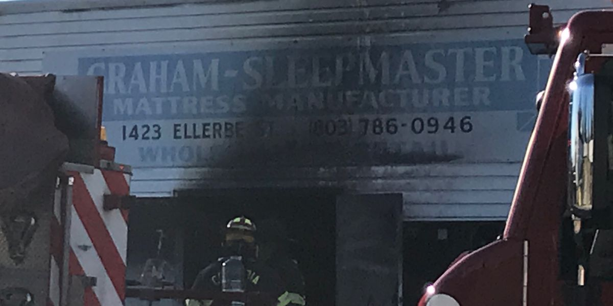 Columbia Fire on the scene of mattress manufacturer fire in Northeast Columbia