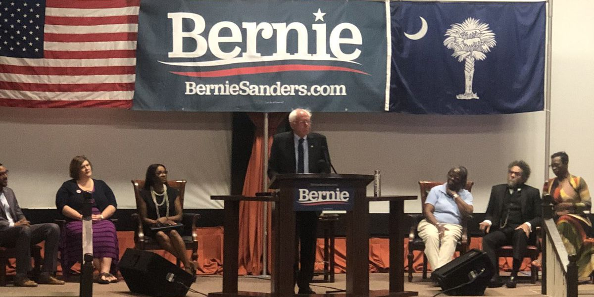 Democratic presidential hopeful Bernie Sanders unveils his K-12 education plan in Orangeburg