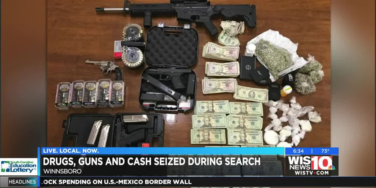 Drugs, guns, and money seized from Holly Street residence in Winnsboro
