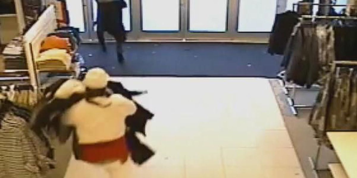 Surveillance shows men running out of Macy's with $4,000 in clothes