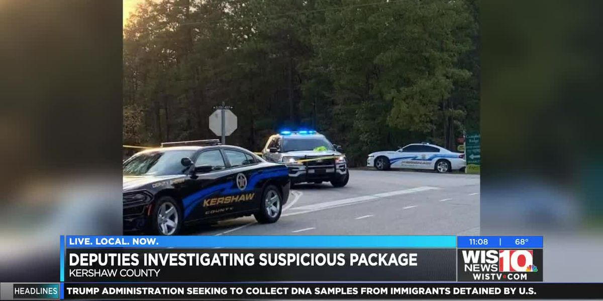 Deputies investigate suspicious package at intersection in Kershaw County