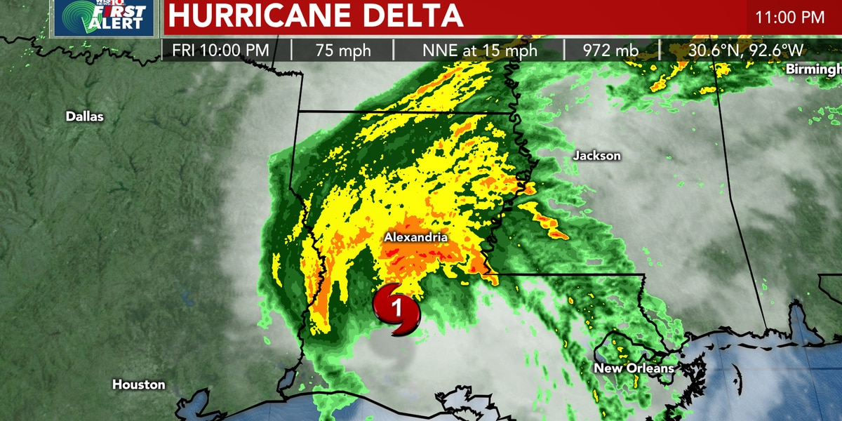 TROPICS: Delta makes landfall in Louisiana, will bring rain, possible storms to the Midlands Saturday into Sunday