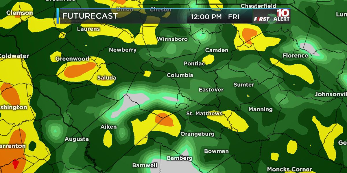 FIRST ALERT: Periods of heavy rain continue through the day