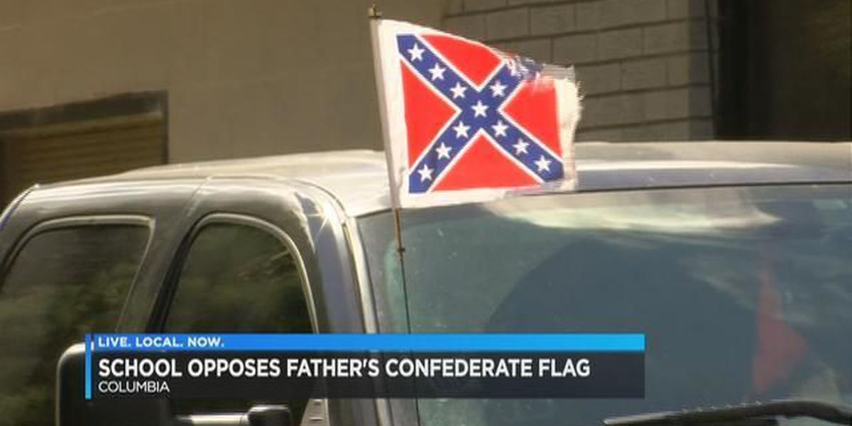 Dad removes kids from private school over Confederate flag dispute