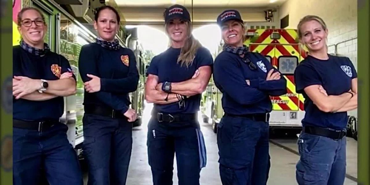 History-making all-female fire rescue crew