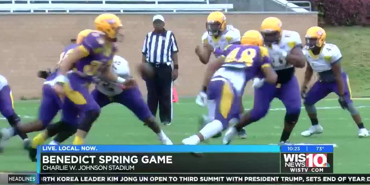 Benedict gets ready for the 2019 football season in annual Purple and Gold spring game