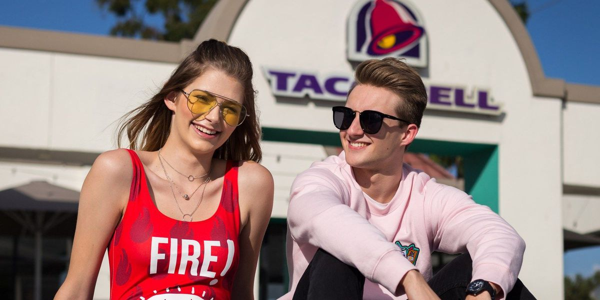 Taco Bell and Forever 21 are joining together for a fashion line. Yes, it's a real thing