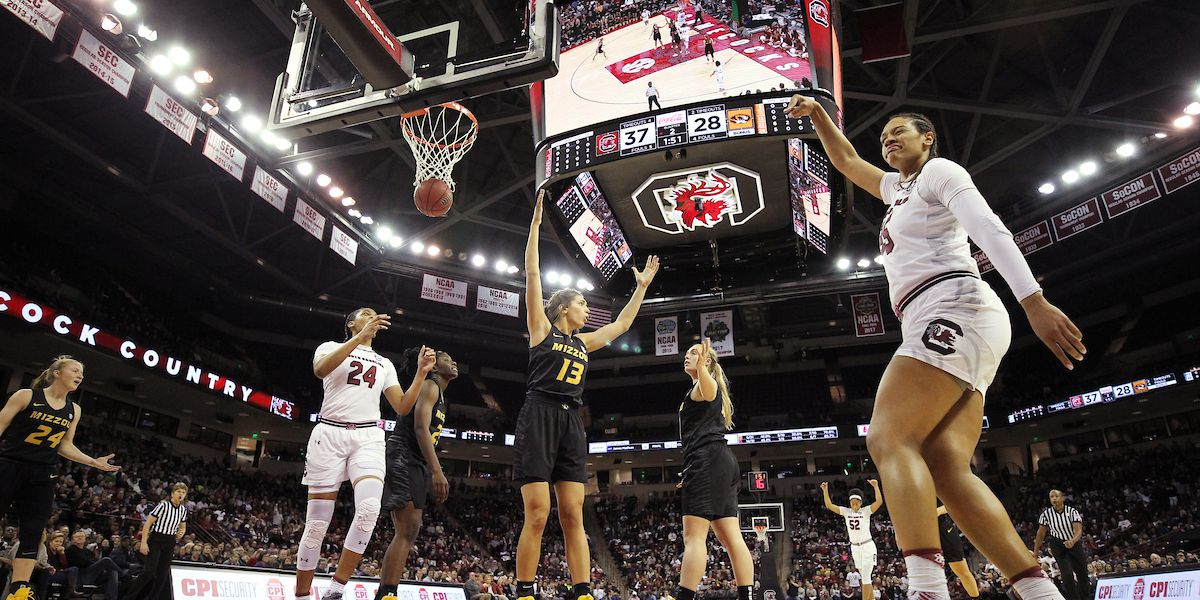 No. 19 South Carolina women handle No. 25 Missouri 79-65