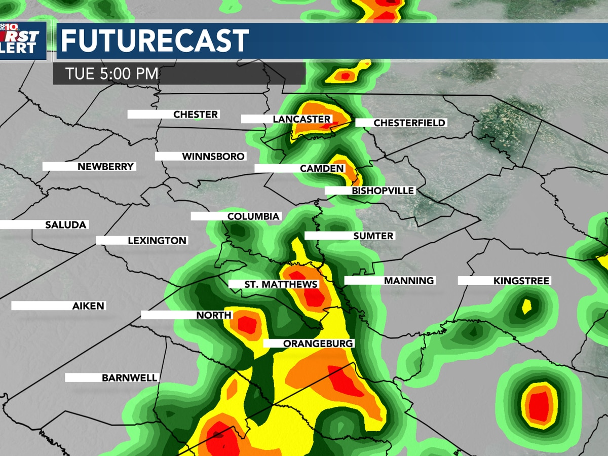 FIRST ALERT: Tuesday is an Alert Day for strong storms, then cooler weather moves in