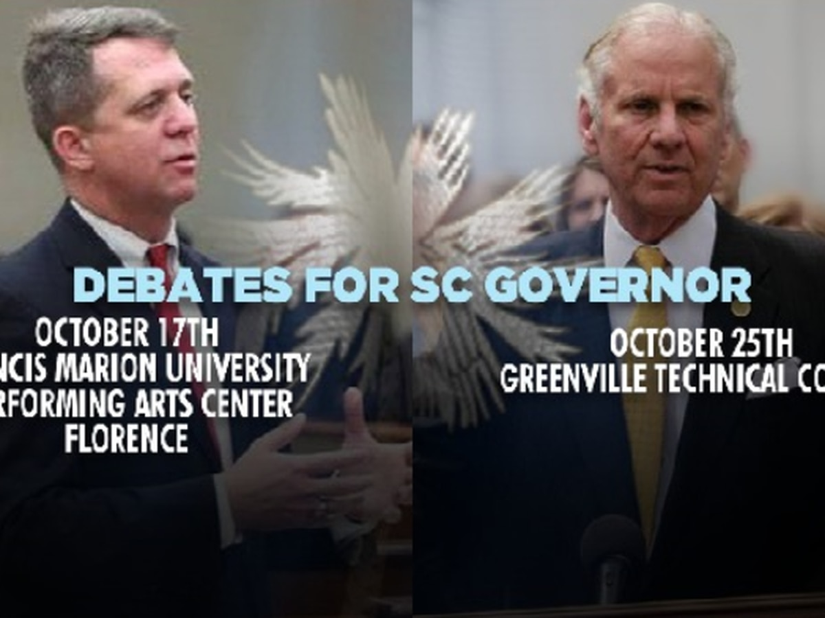 SC Governor candidates to debate Wednesday