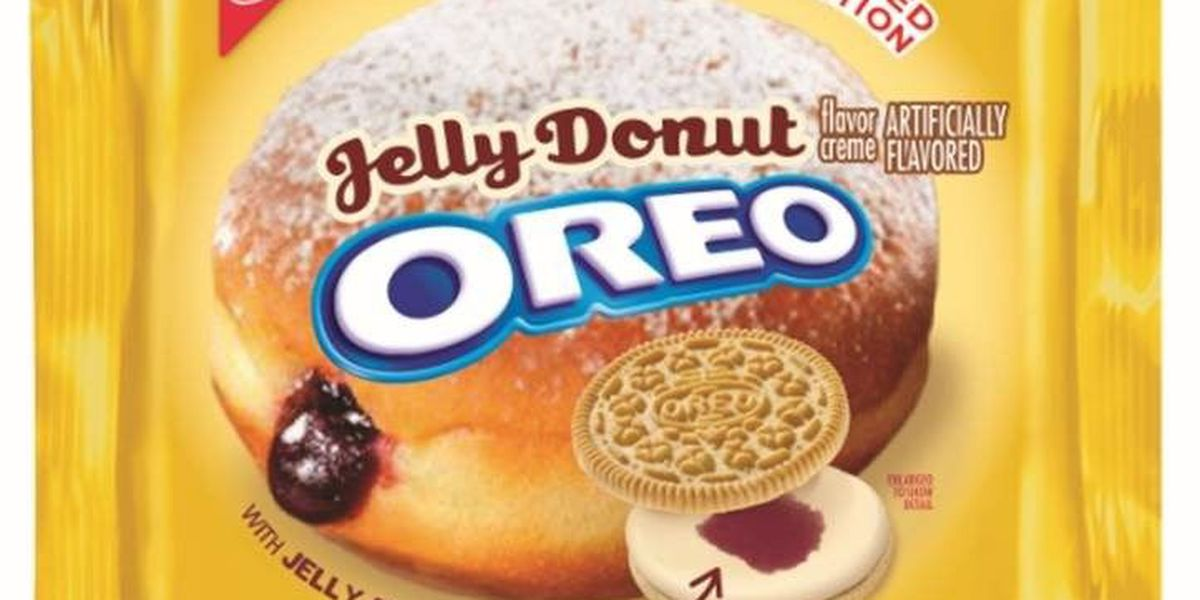Mmmm...Jelly Donut Oreos to hit shelves this weekend