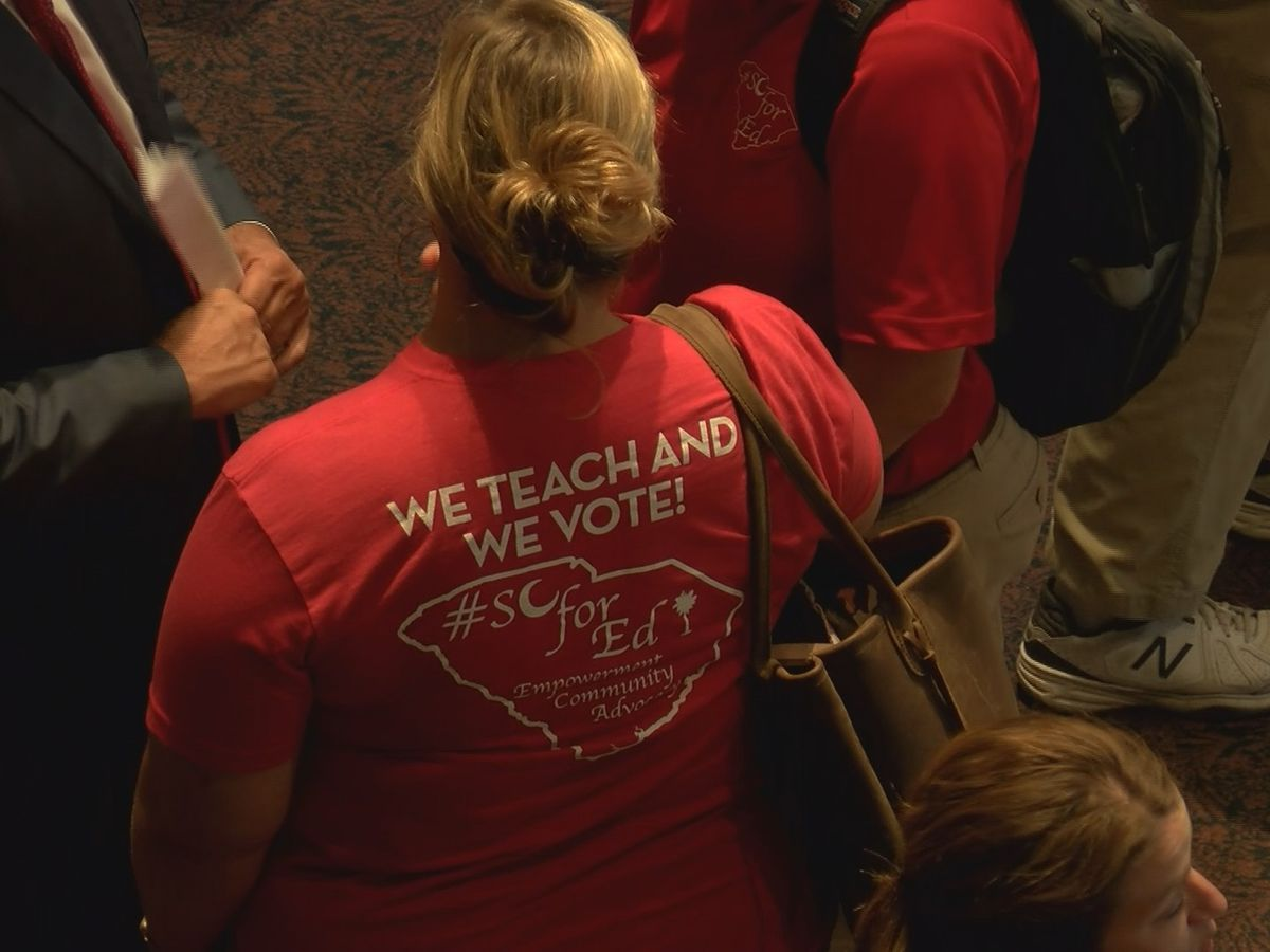 Teacher group returns to State House nearly two months after rally