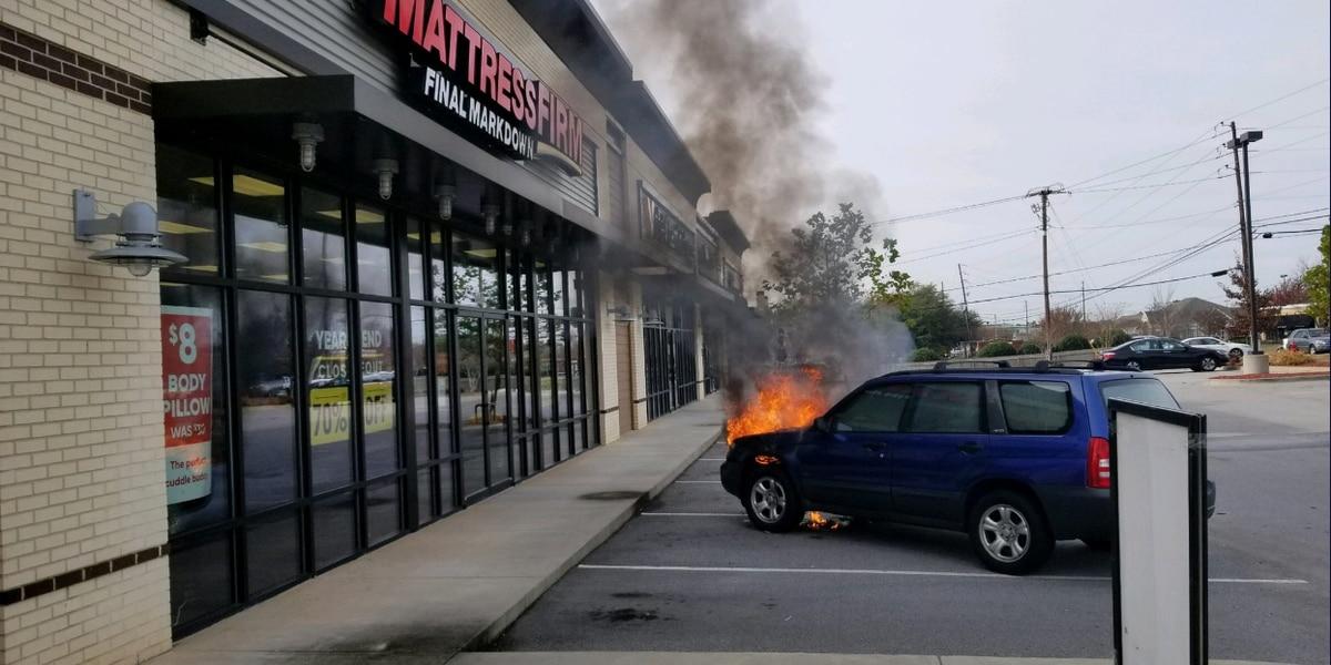 Sunset Blvd. reopens after vehicle fire at Lexington Mattress Firm