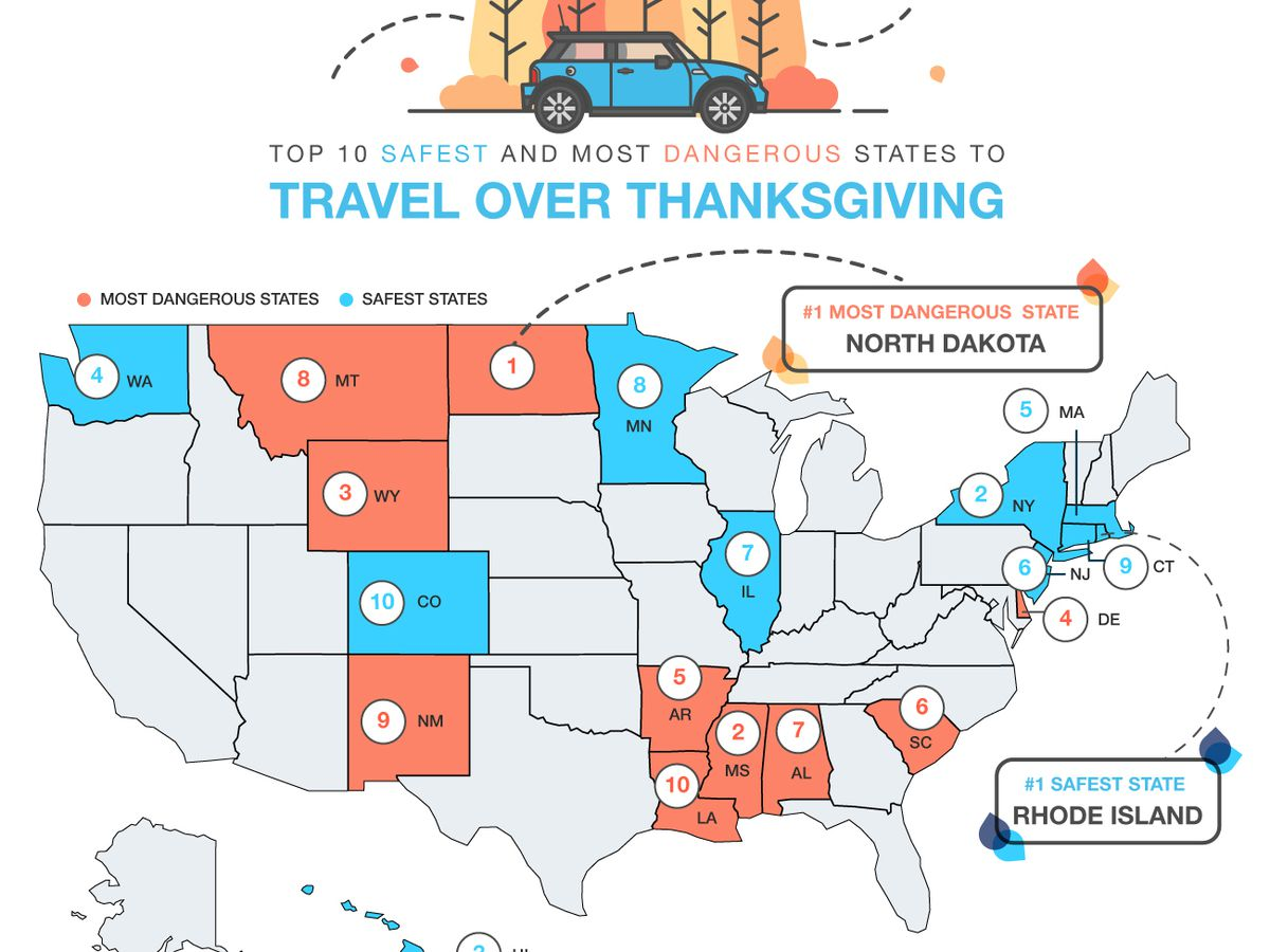 SC ranked one of the most dangerous states to travel in over Thanksgiving, study says