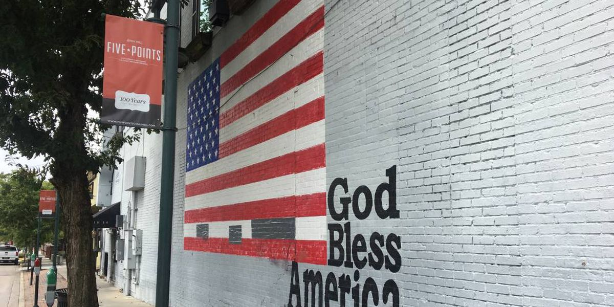 American flag mural in Five Points vandalized with 'possible demonic numbers'