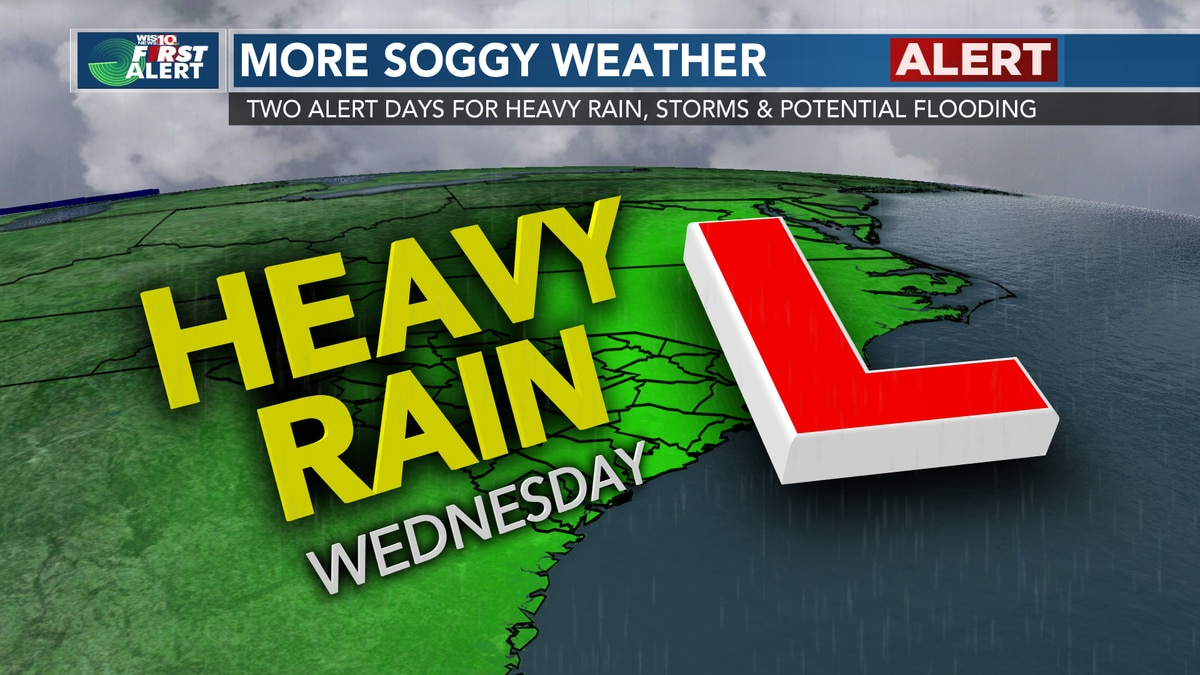 THE TROPICS: Low pressure from the tropics will bring heavy rain, potential flooding Wednesday