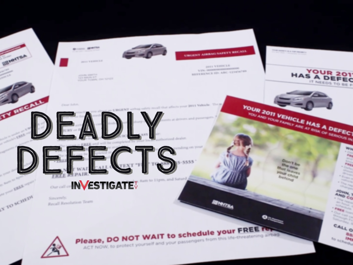 Deadly Defects: 11 million recalled Takata airbags still on US roads