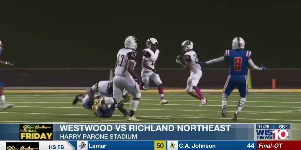 PLAY 2: Westwood's Zi'Kef Johnson takes the lateral on the kickoff and returns it for six