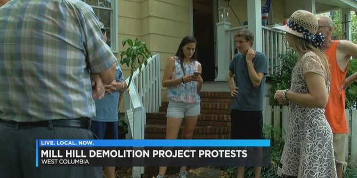 West Columbia residents protest Mill Hill demolition project