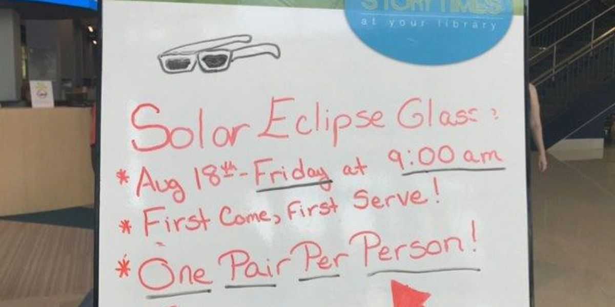 Sorry, procrastinators: Richland County Public Library out of eclipse glasses
