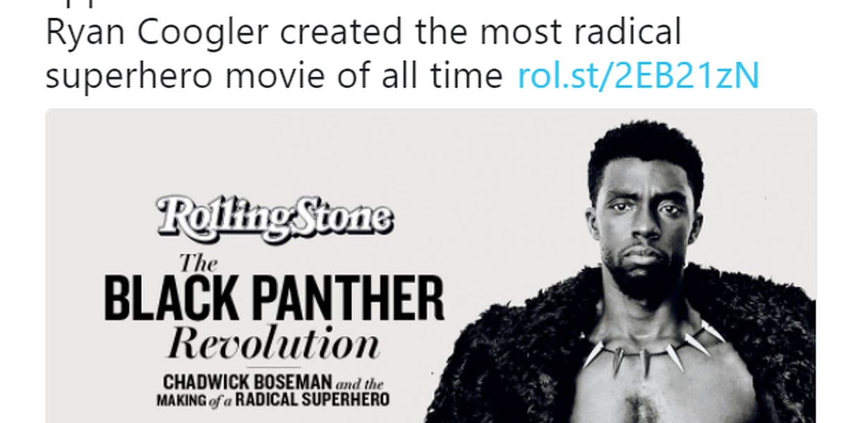 Chadwick Boseman graces Rolling Stone cover fresh off record-breaking Black Panther opening