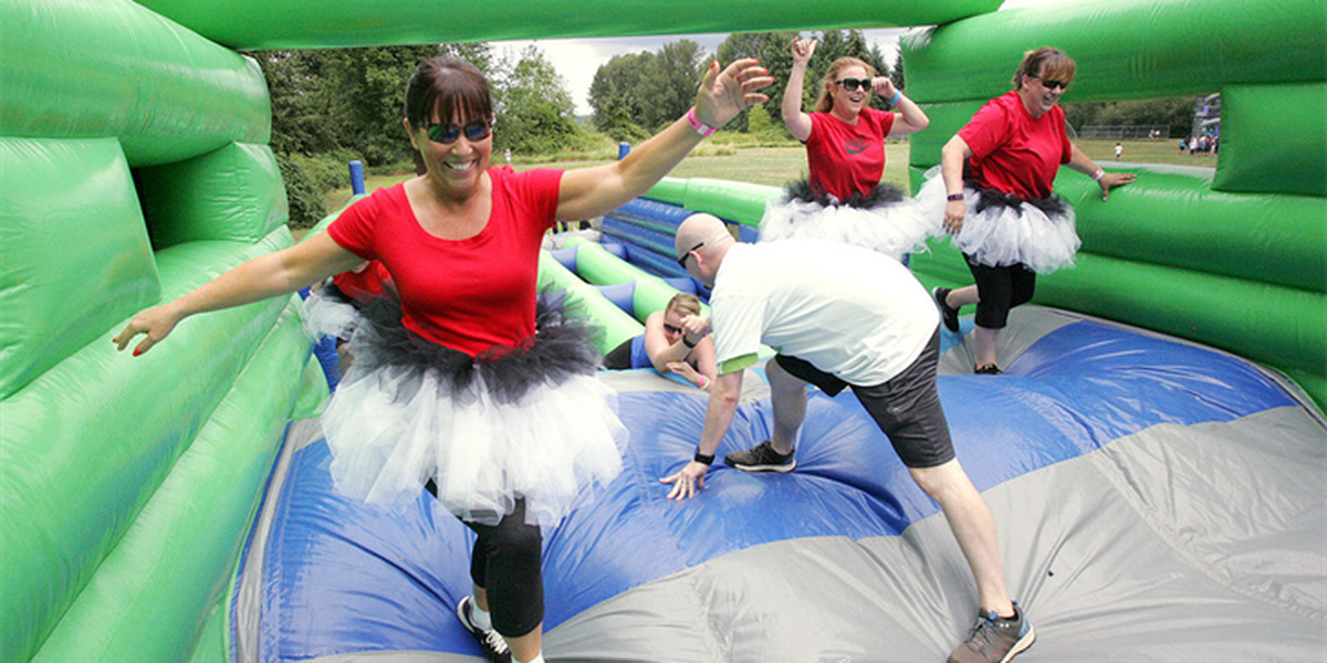 The Great Inflatable Race brings the bounciest fun run to Columbia