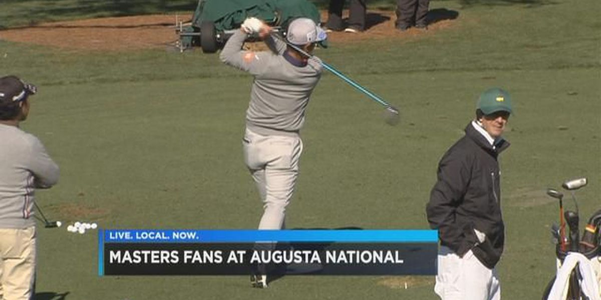 Excited patrons descend on Augusta National for Masters