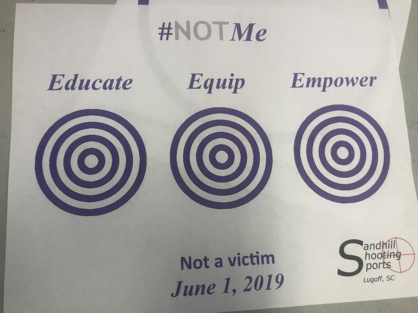Women nationwide stood in solidarity with sister self-protectors to show the world they refuse to be a victim or to say Never Again to ever being a victim again. (Source: Jenna Cisneros/WIS)