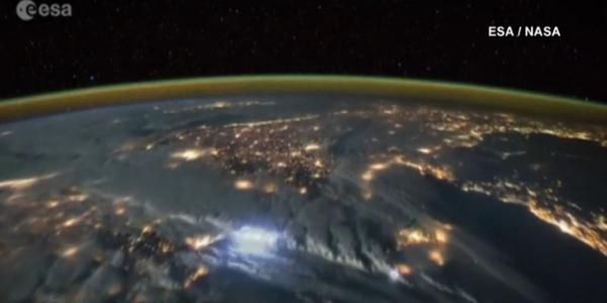 WATCH: Dazzling video of lightning strikes from space
