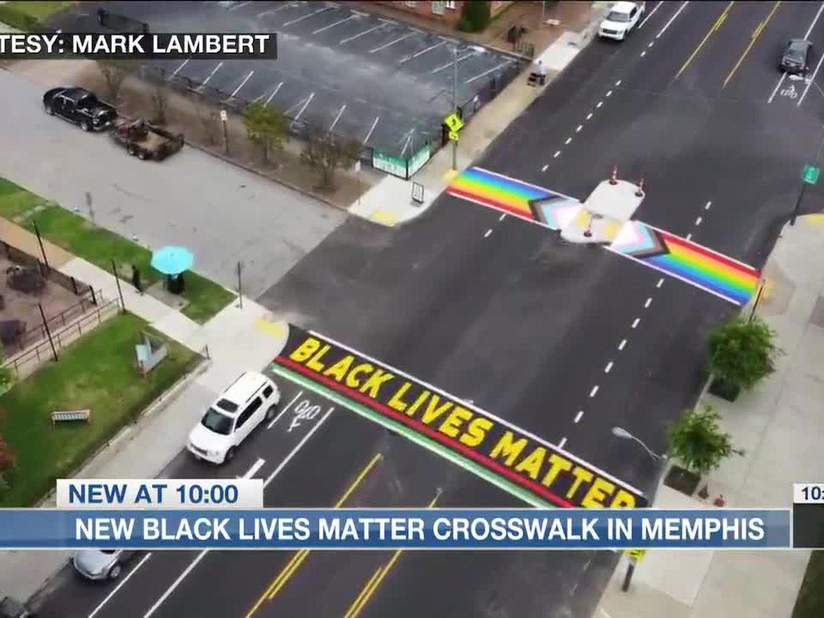 Black Lives Matter, rainbow crosswalks unveiled in Memphis