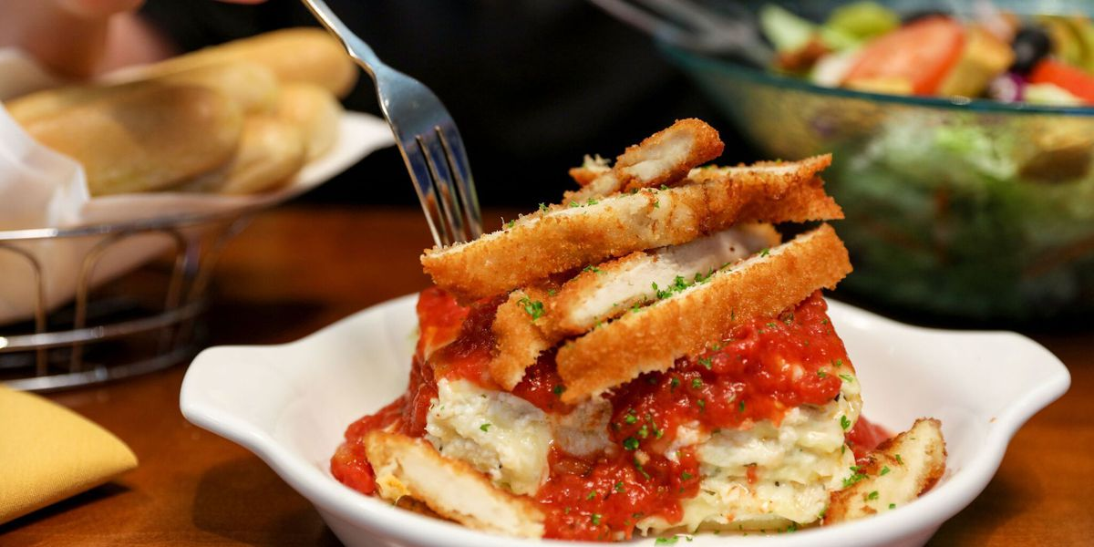 Create your own lasagna at Olive Garden