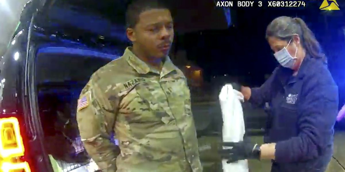 GRAPHIC: Virginia police officer accused of force in stop of Black Army officer fired