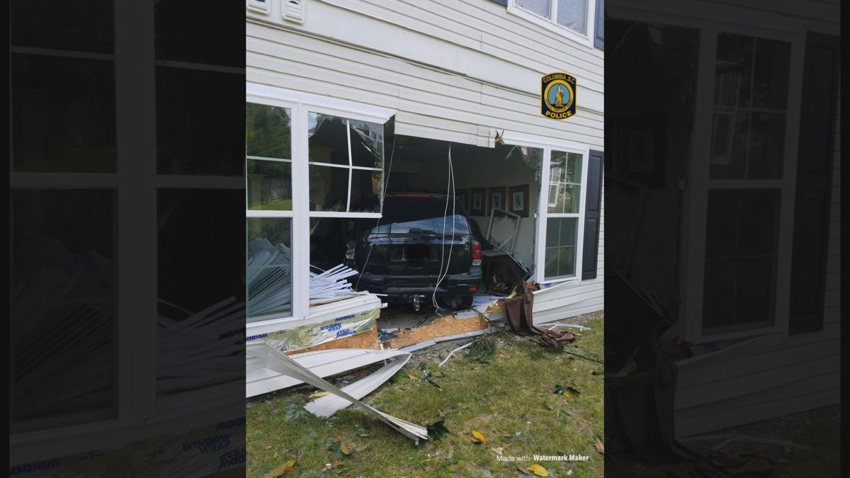 Woman detained after crashing into apartment building, Columbia police say