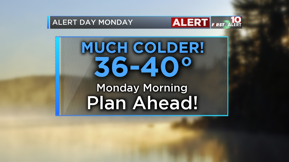 FIRST ALERT: Coldest morning since April - Warming up some for Tuesday/Wednesday