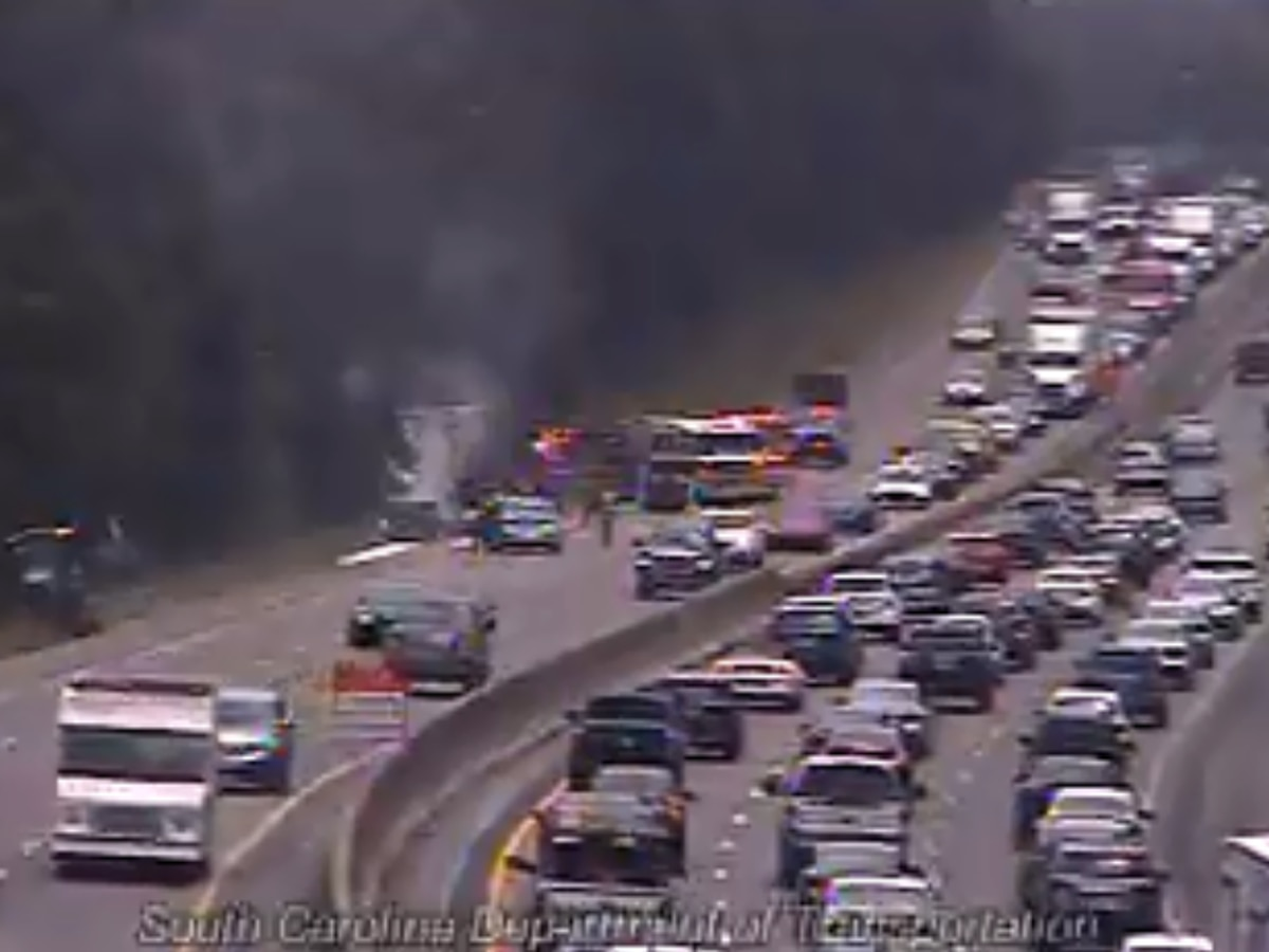 Semi fire closed two lanes of I-20 West in Columbia