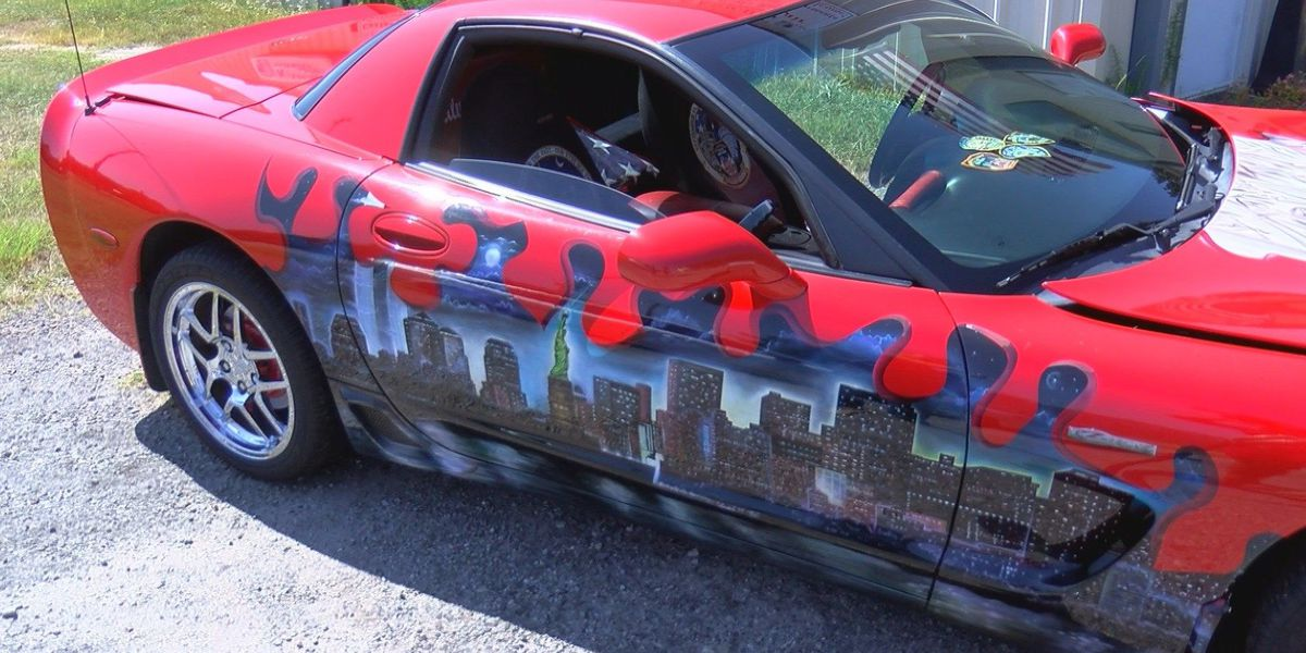 9/11-themed corvette, new addition to Tunnel for Towers 5K