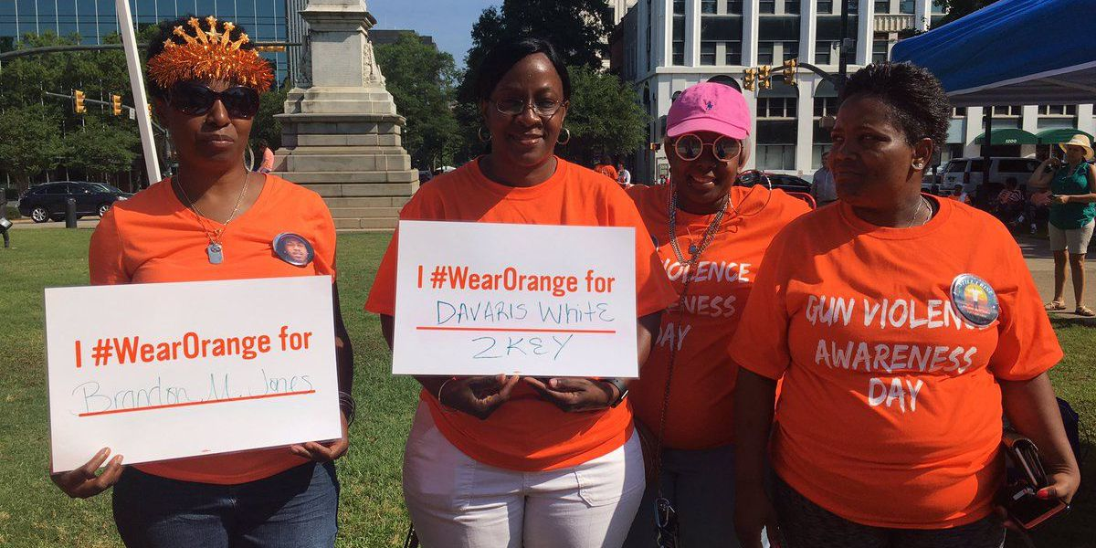 Families of gun violence victims Wear Orange at State House