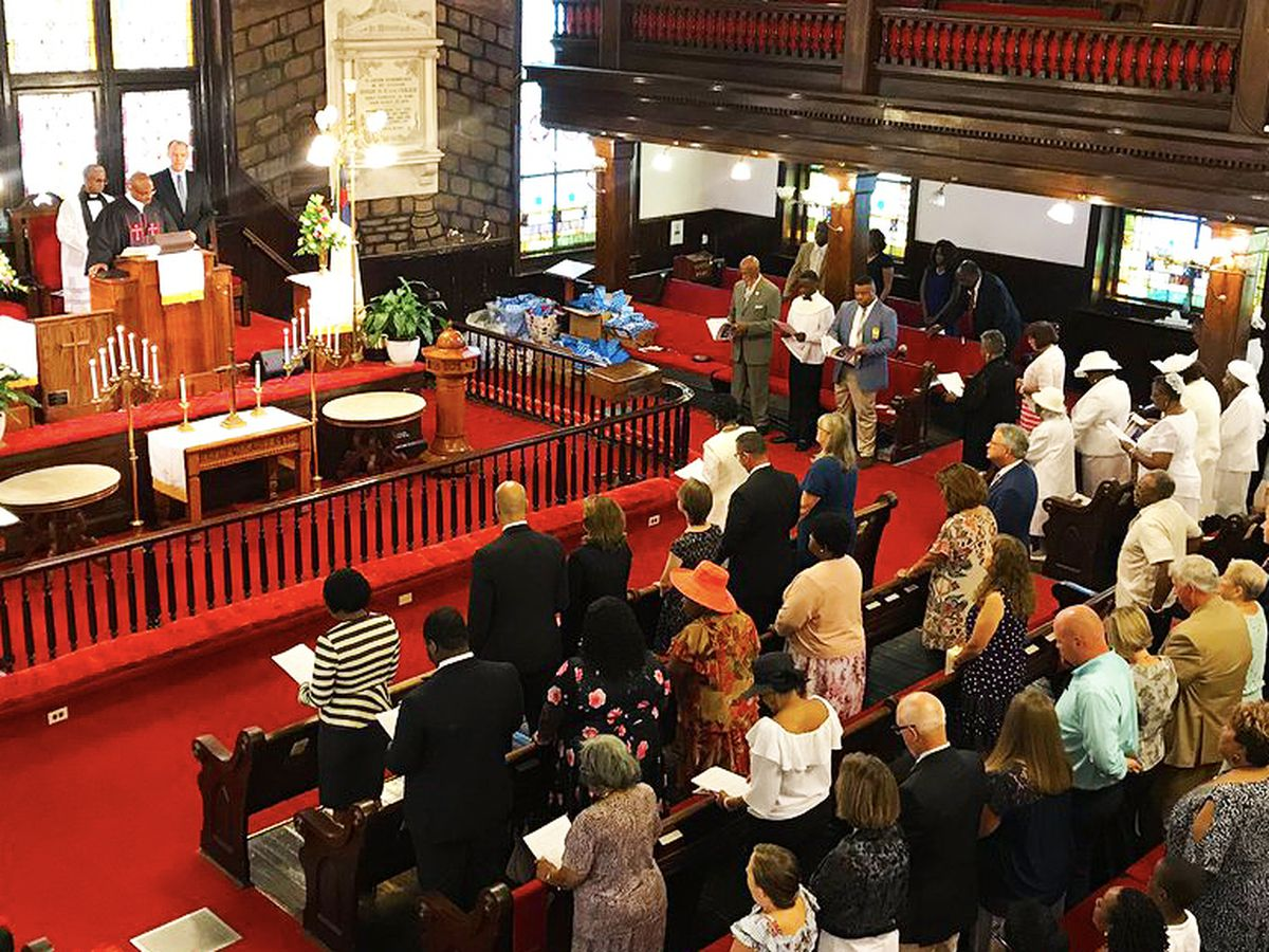 Special Father's Day service held at Mother Emanuel AME Church