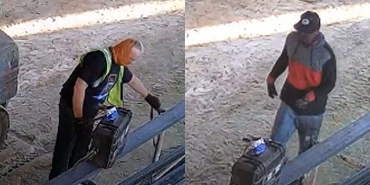RCSD seeks men caught on camera taking construction, industrial equipment