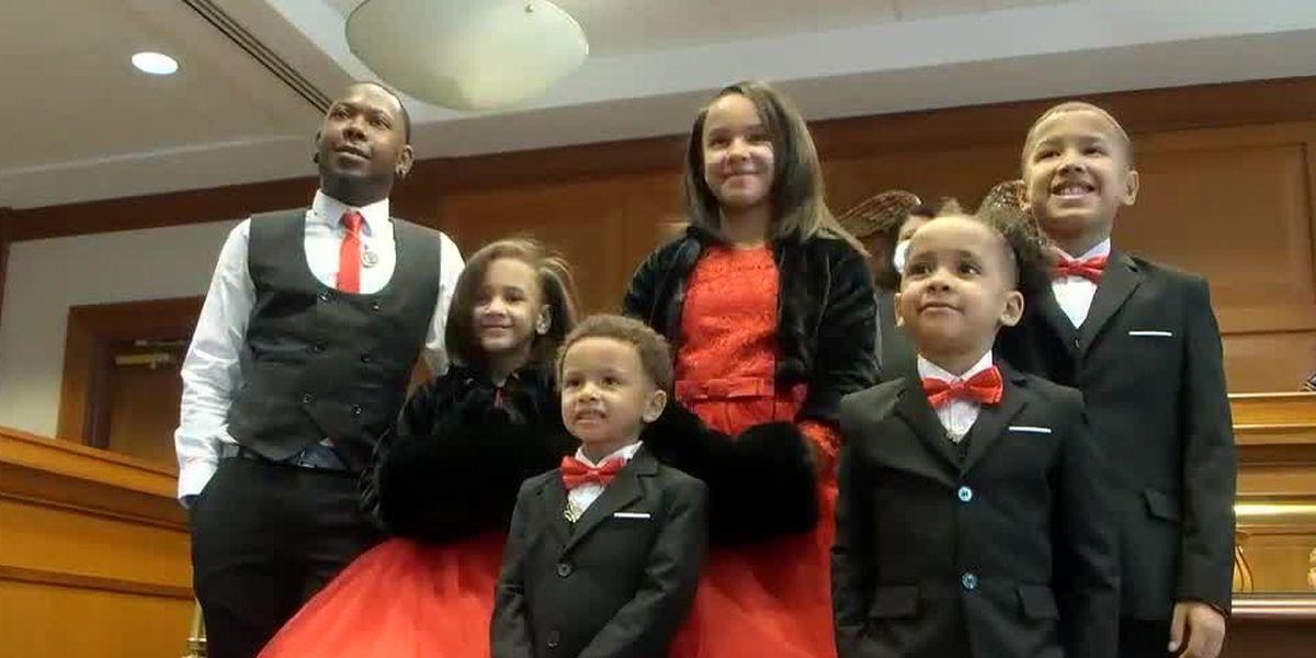Single father adopts five children on Hamilton County's Adoption Day