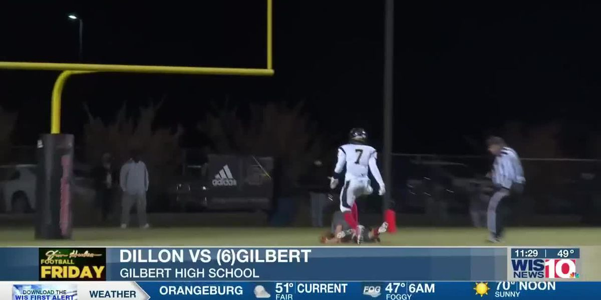 PLAY 3: Gilbert's Izayah Whiteside finds Gage Gunter for the TD pass