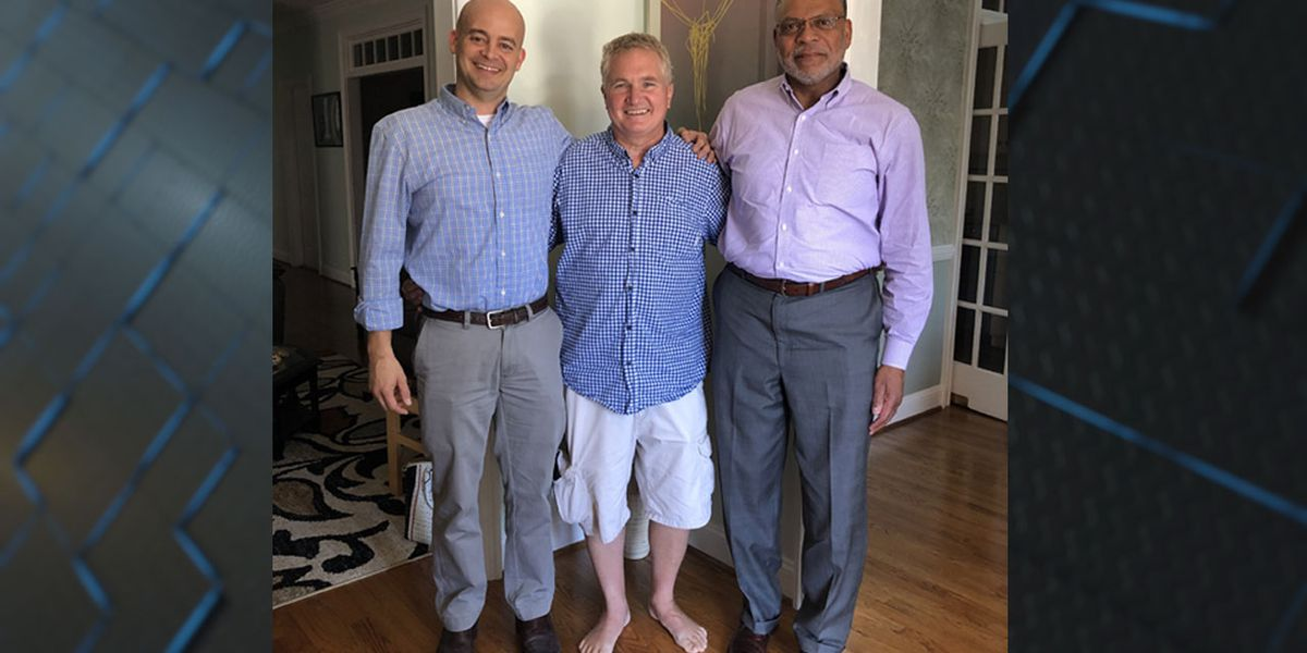 Lexington man reunites with 2 men who saved his life after massive heart attack on Columbia-bound plane