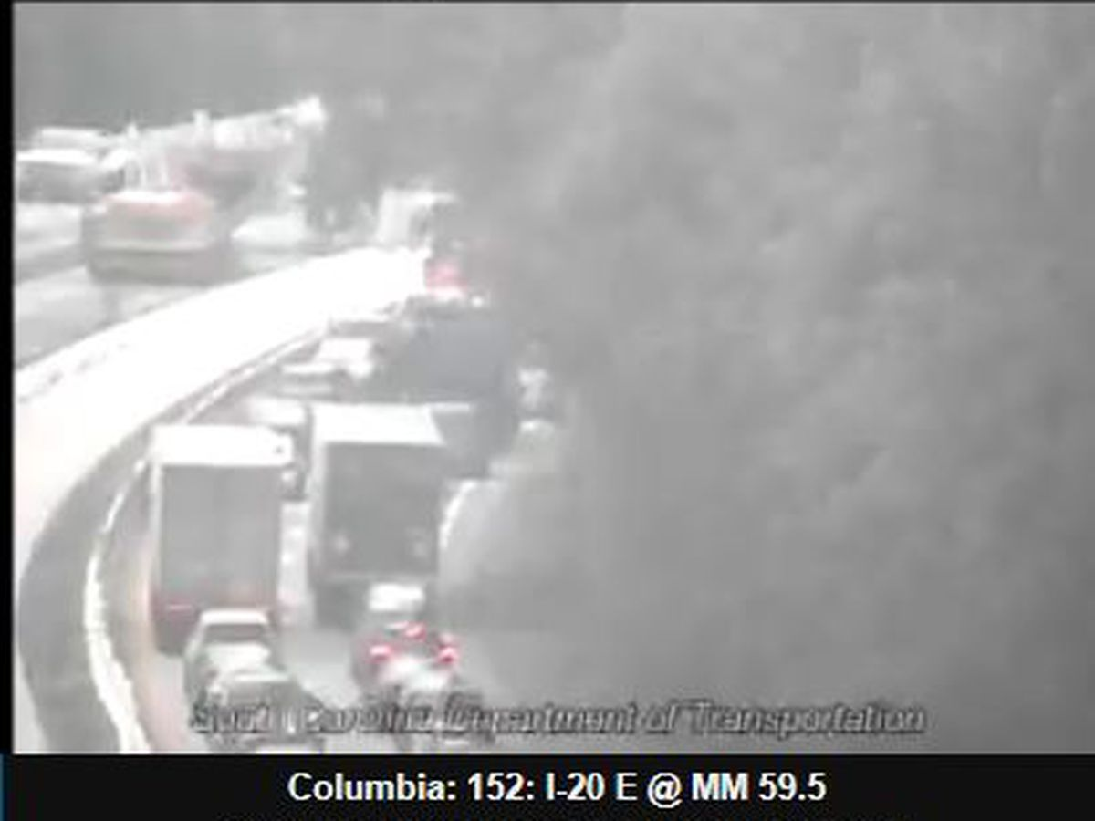 I-20 E reopened after crash near Lexington, West Columbia exits