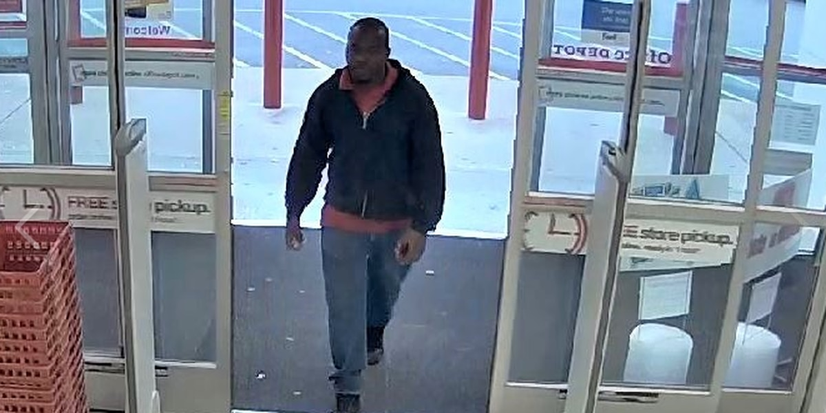 Lexington Police searching for suspect who stole two laptops from Office Depot