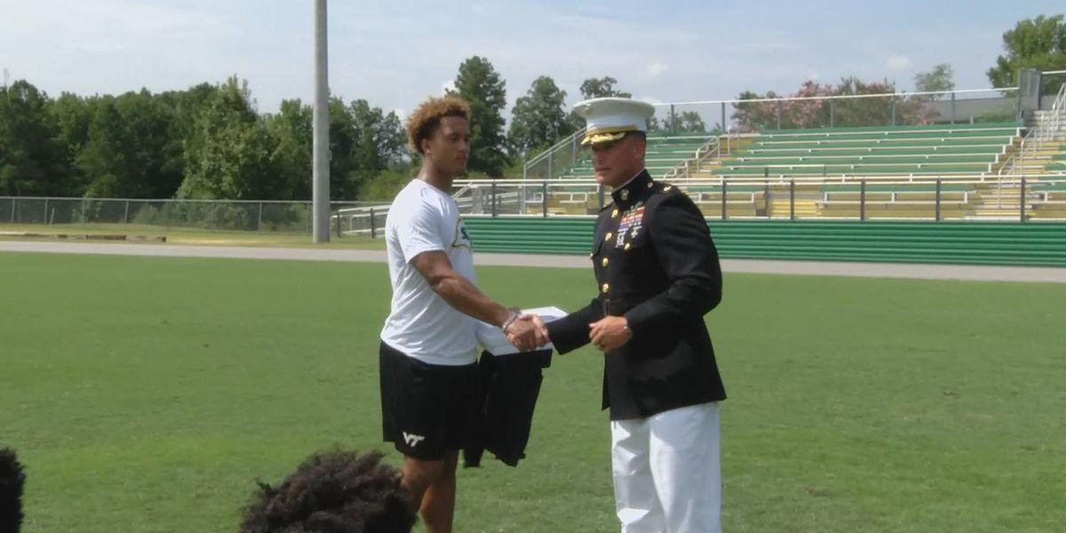 Marines recognize Ben Lippen senior for achievement
