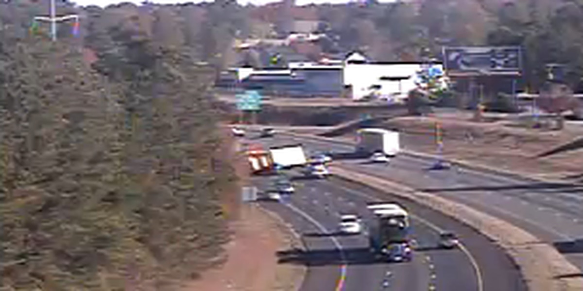 Overturned tractor-trailer causing traffic troubles on I-77