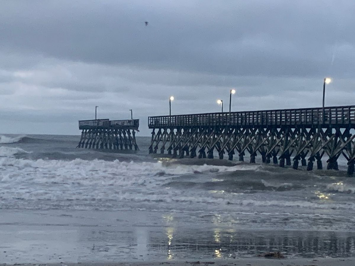 'Didn't expect it to be as bad as it was': Isaias takes out part of N. Myrtle Beach pier