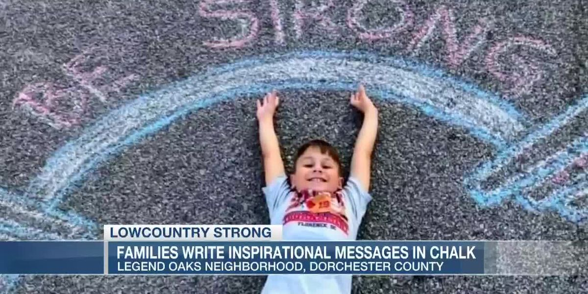 VIDEO: Lowcountry Strong: Dorchester County kids using chalk messages to inspire others